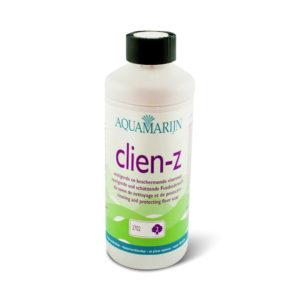Een flesAquamarijn Clien-Z vloerzeep