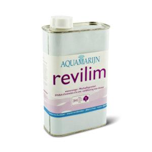 Een fles Aquamarijn Revilim Waxverzorger