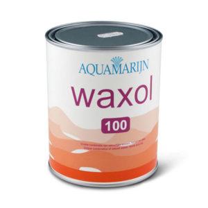 Een blik Aquamarijn Waxol 100
