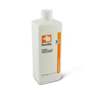 Een fles Dumby Polish voor gelakte kurkvloeren