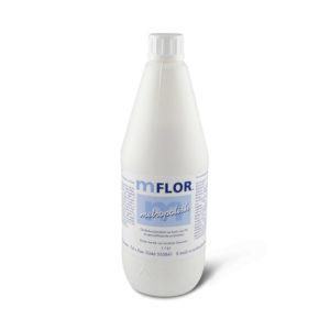 een fles Mflor Metropolish
