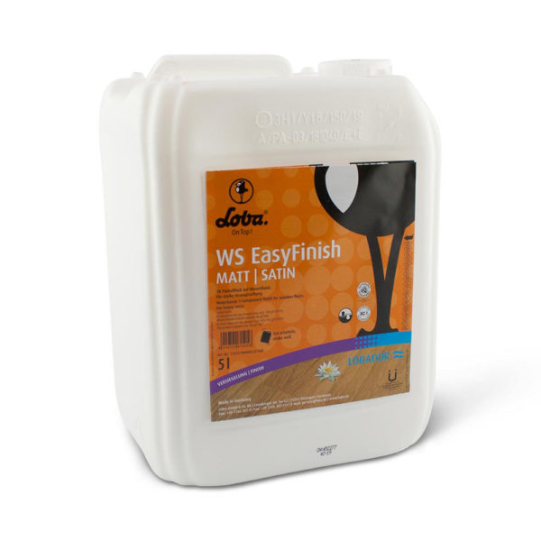 Een can met Lobadur Easyfinish lak mat