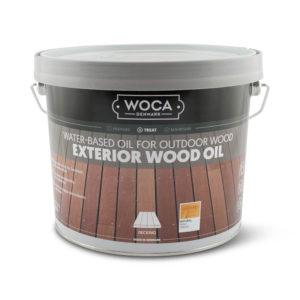 Een blik Woca Exterior Wood Oil van 2,5ltr